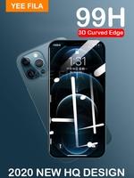 99H Glas auf Für iPhone 12 11 Pro Max 12 mini iphone12 xs max x xr 7 8 plus se 2020 12 Pro Glas 3D Gebogenen Rand Display-schutz