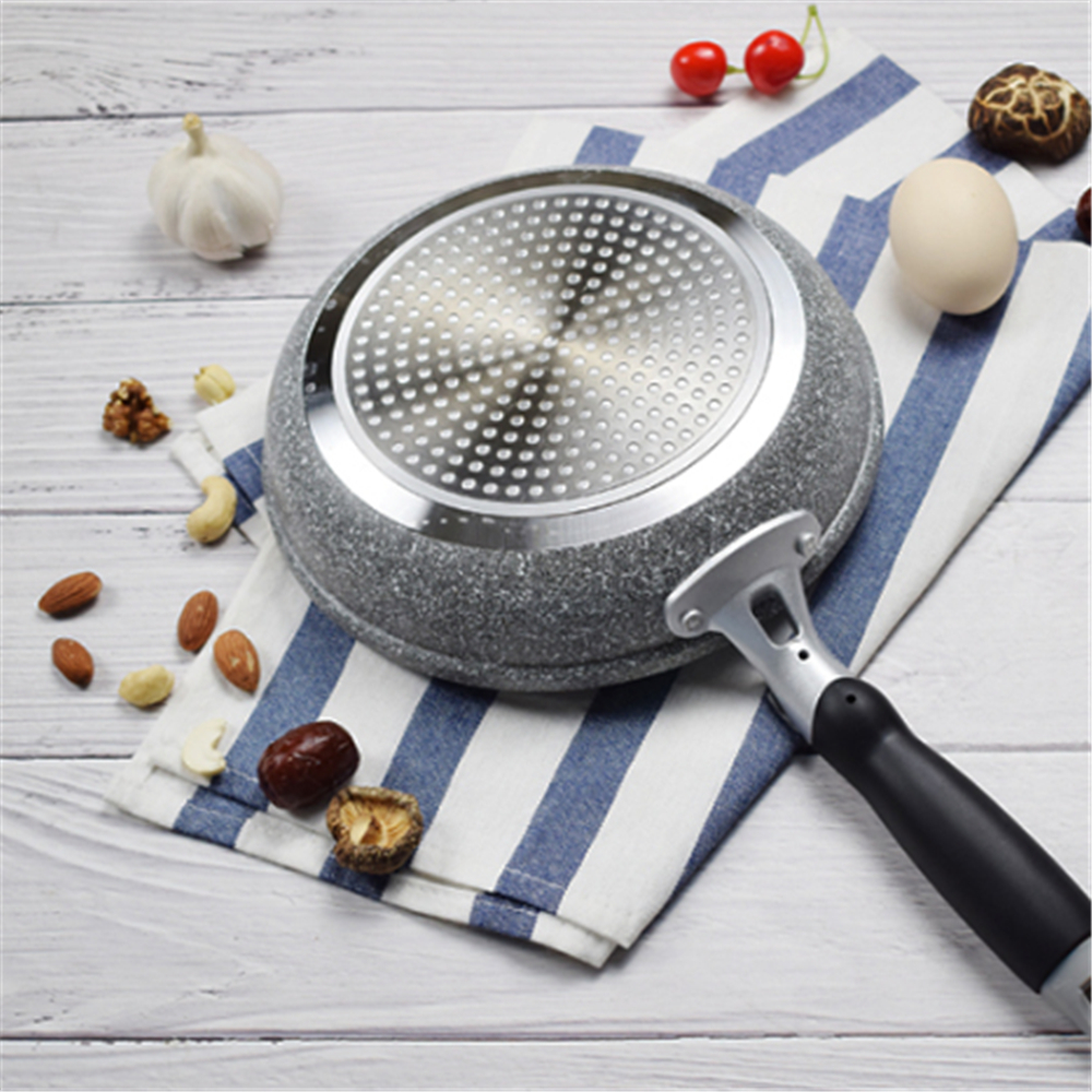 Frying Pan 20cm 26cm 28cm Non-stick Skillet Cauldron Induction Cooker Wok Pan Bread Pizza Egg Pan Gas Stove Pancake Pan for Home