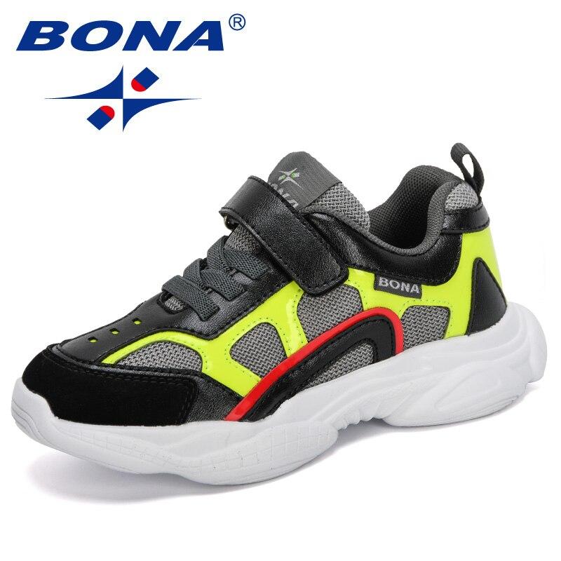 bona 2020 novos designers criancas tenis criancas esporte sapatos meninos lazer formadores casuais respiravel meninas correndo