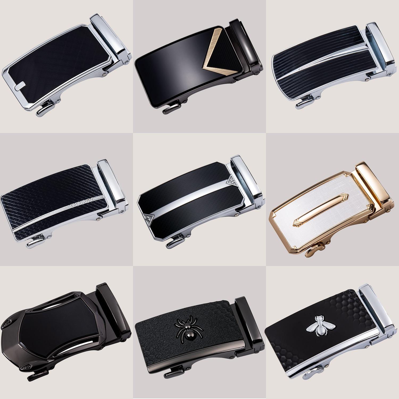 Alloy Automatic Belt Buckle 3.5cm Width Belt Buckle Male Luxury Business Automatic Buckle Head Metal Belt Buckle For Men DiBanGu