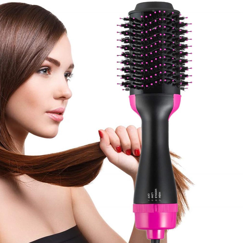 escova de ar quente escova rotativa multifuncional um passo secador de cabelo grande escova redonda secador