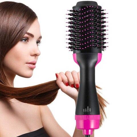 escova de ar quente escova rotativa multifuncional um passo secador de cabelo grande escova redonda