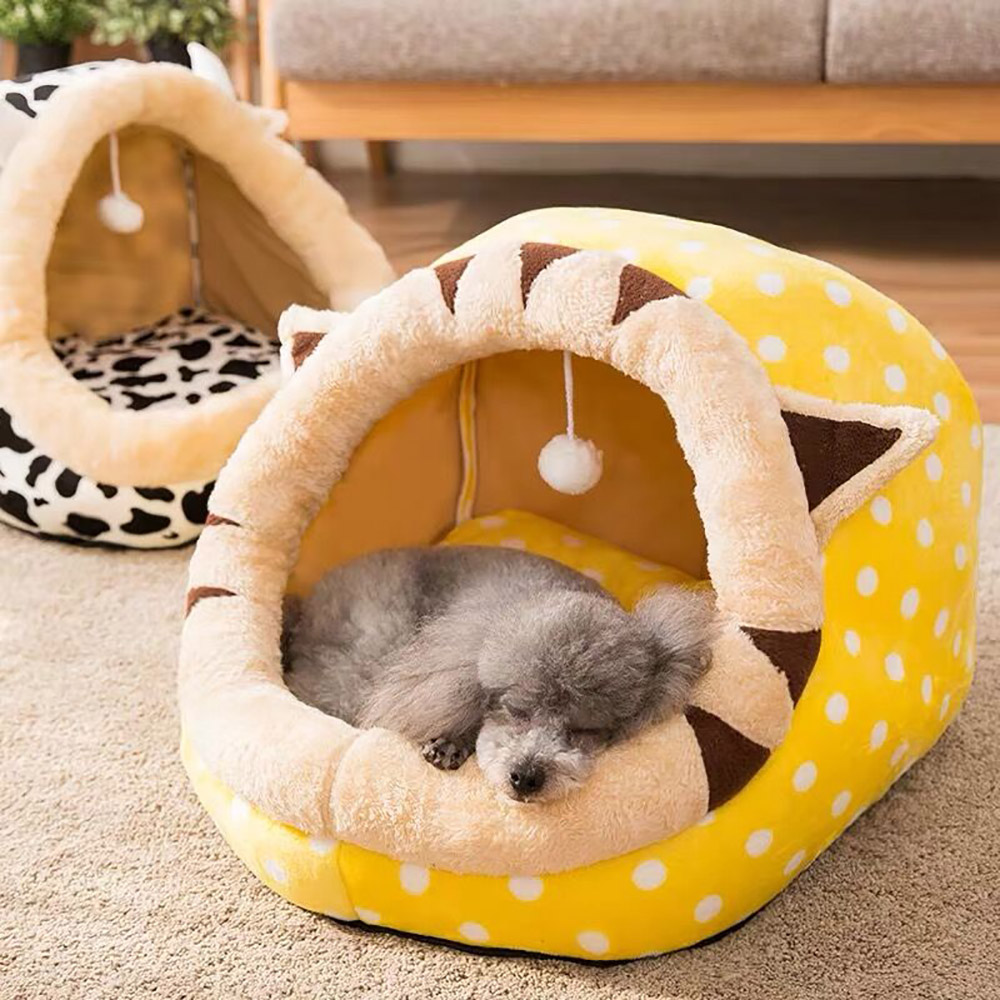 Теплый домик для щенков, для маленьких собак, кошек, спальный питомник, мягкая домашняя кровать для кошек, моющееся гнездо, коврик для домашн