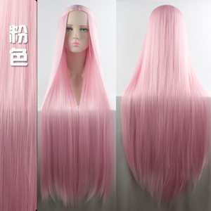 Image 3 - MUMUPI Cos Wig Blonde Red Pink Grey Purple Hair for Party 100CM Long Straight wigs Synthetic cosplay Wig for black Women