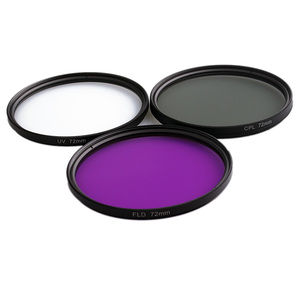 Image 2 - 49MM 52MM 55MM 58MM 62MM 67MM 72MM 77MM UV+CPL+FLD 3 in 1 Lens Filter Set with Bag for Cannon Nikon Sony Camera Lens