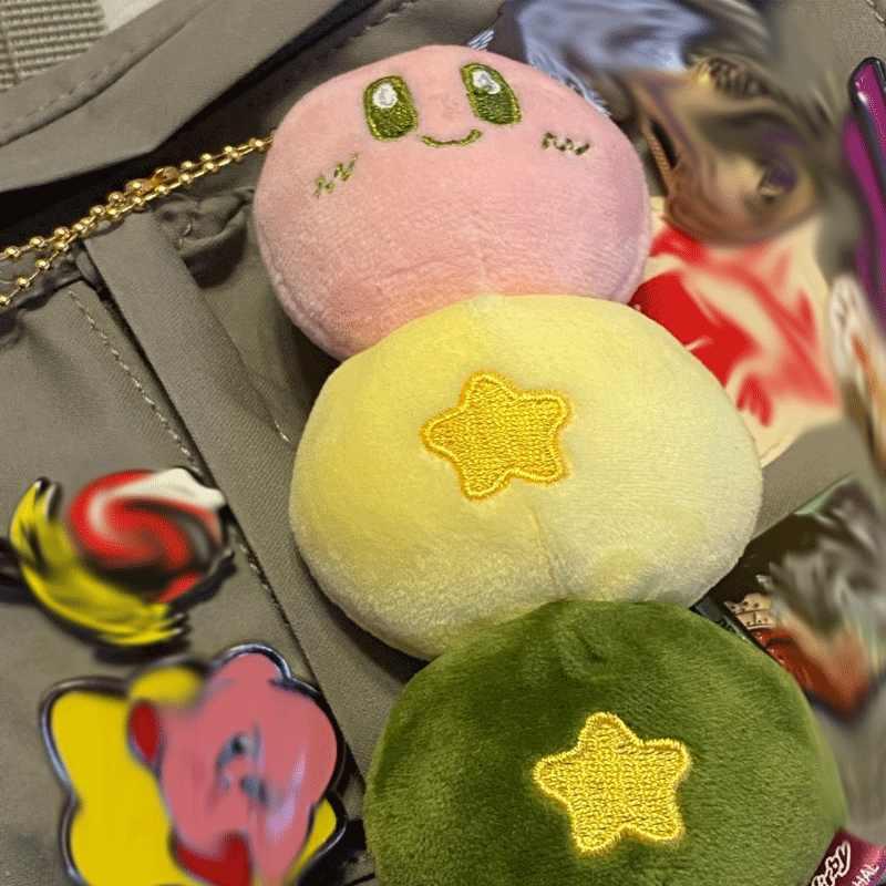 9-17cm Kawaii קירבי בפלאש בובת צעצוע יפה ורוד קירבי משחק דמות בובת פופולרי משחק חיות פרווה צעצוע ילדי מתנת יום הולדת