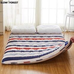 느린 숲 퀸 매트리스 다다미 매트 6cm 두께 침실 용 바닥 매트 베개 쿠션이없는 접이식 매트