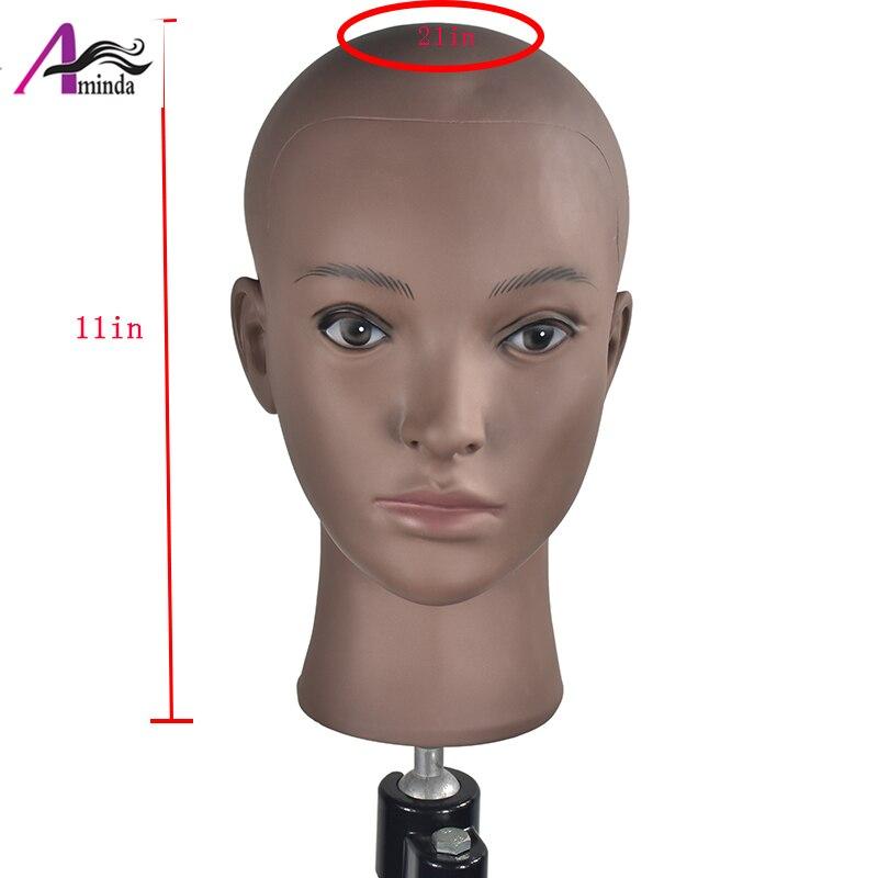 高品質マネキン PVC 女性はげマネキン頭部モデルウィッグ作る帽子メガネディスプレイモール用スタンド  グループ上の ホーム&ガーデン からの マネキン の中 1