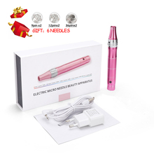 Derma-Pen Microneedling-Gun Wireless Needles Skin-Care Professional Electric with 6pcs