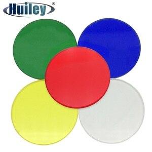 Filtro biológico branco ótico do microscópio 32mm 35mm 42mm 45mm filtro de cor verde azul amarelo vermelho fosco do microscópio