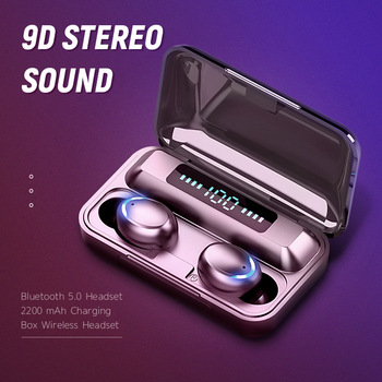 Sports Earbuds Headsets With Microphone Bluetooth 5.0 9D Stereo