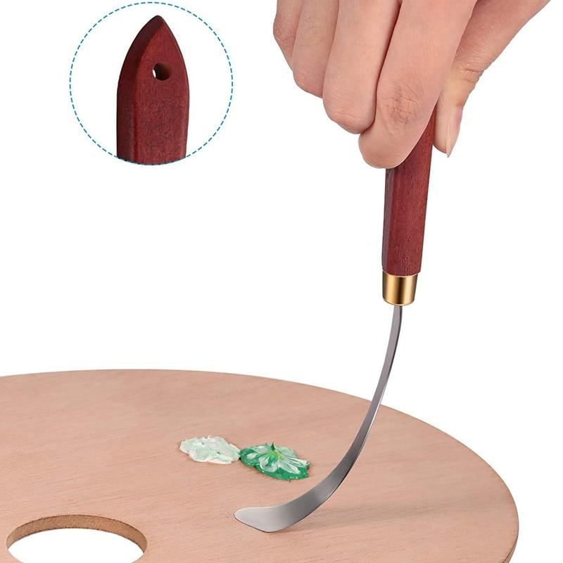raspador de metal faca paleta óleo acrílico