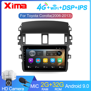 9 Inch 2Din android 9.0 Car Radio Multimedia Player For Toyota Corolla E140/150 2007 2008 2009 2010 2011 2012 2013 2014-2016