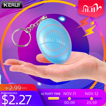 Portable Defense Personal Alarm Girl Women Anti-Attack Security Protect Alert Emergency Safety Mini Loud Keychain - discount item  18% OFF Self Defense Supplies