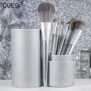 DUESI 7pcs/8pcs/Set Foundation Makeup Brush Set Beauty Eyeshadow Eyebrow Blending Blush Concealer Powder Make Up Brush Tools