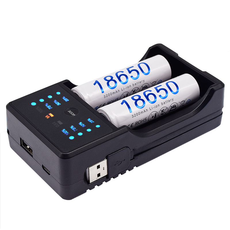 PALO USB Chargeur Intelligent pour 1.2V Ni-Mh AA AAA batterie 18650 26650 14500 3.7V Li-ion Batterie Externe Rechargeable charge
