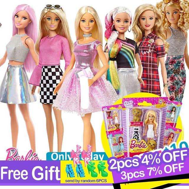Originele Barbie Fashion Dolls Assortiment Fashionista Meisjes Reborn Pop Baby Prinses Meisje Speelgoed Voor Kids Bonecas Poppen Juguetes