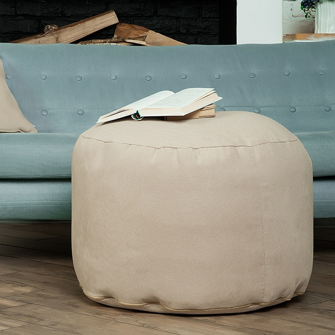 Orleans-poof large Delicatex light beige Large Bean Bag Sofa Lima Lounger Seat Chair Living Room Furniture Removable Cover With Filler Kids Comfortable Sleep Relaxation Easy Beanbag Bed Pouf Puff Couch Tatam Solid Poof white bean bag sofa set with stool rest living room waterproof beanbag home furniture set