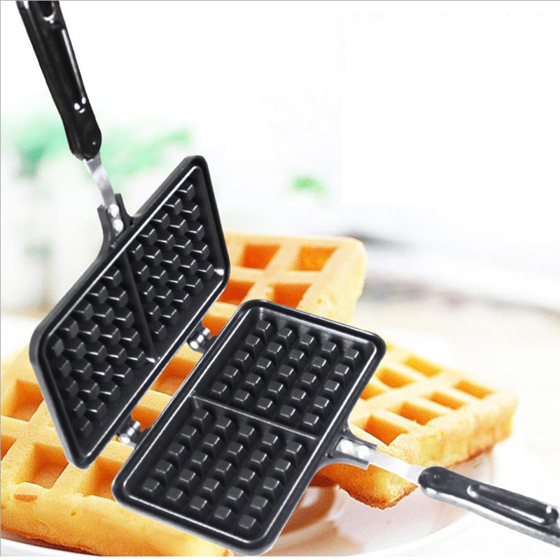 Non-Stick Waffles Maker Mold Portable Iron Machine Household Kitchen Gas Pan Bubble Egg Cake Oven Breakfast Machine Cake Maker