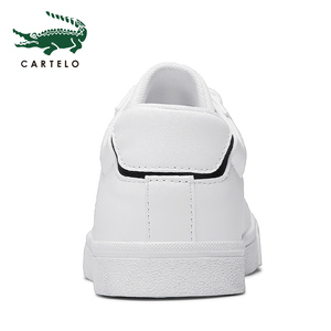 Image 5 - CARTELO גברים של נעלי ניו נעליים יומיומיות גברים של עור שטוח נעליים עם מחשוף סניקרס קטן לבן נעליים לנשימה