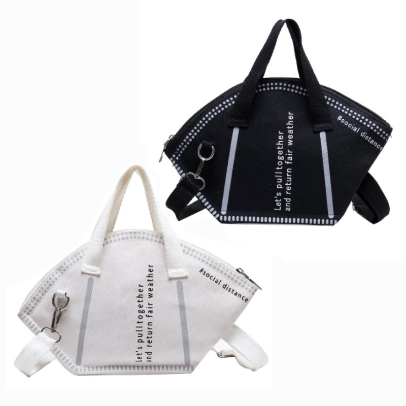 Mini Mask Bag With Shoulder Strap Ladies Shopping Bags Unique Design Trendy Female Bags Money Storage Tote Size Small SizeL