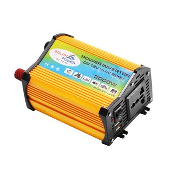 Falownik solarny 3000W transformator napięcia szczytowego DC 12V do AC 220V falownik samochodowy na falownik solarny urządzenia domowe tanie i dobre opinie Dc dc 60Hz
