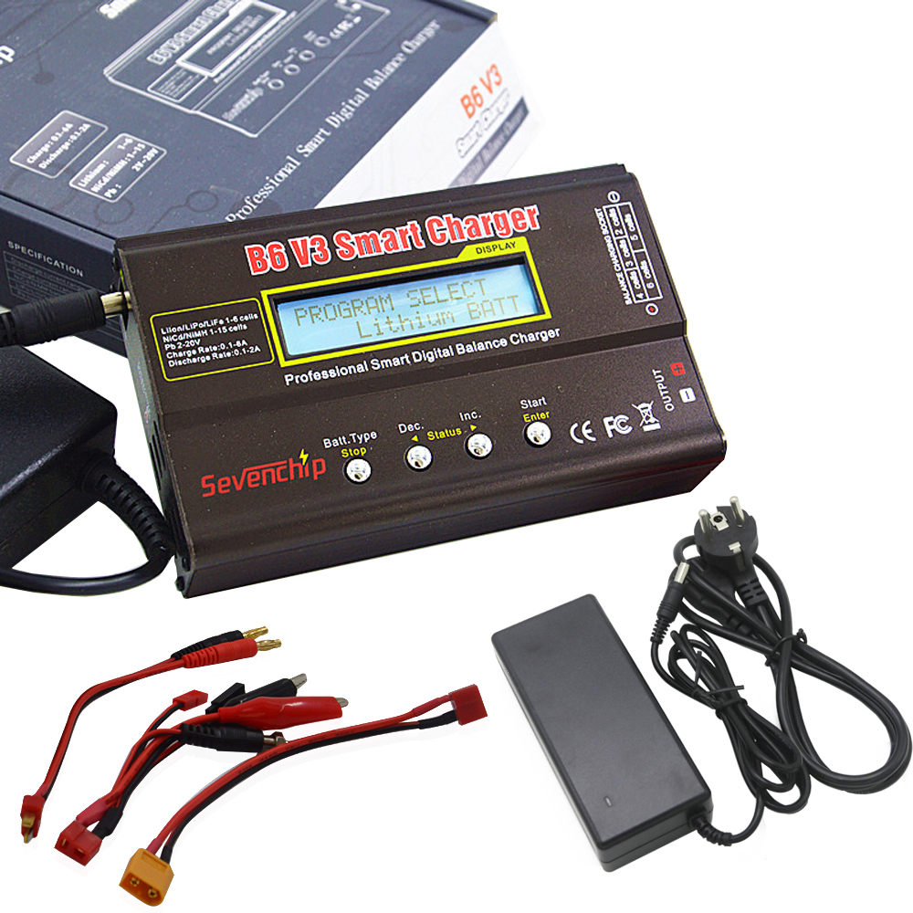 IMAX B6 V3 80W Lipo Battery Balance Charger/Discharger With 12V 5A AC Adapter For LiHV LiIonLiFe NiCd NiMH PB Battery