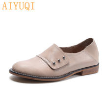 Женские туфли на низком каблуке aiyuqi повседневные из натуральной