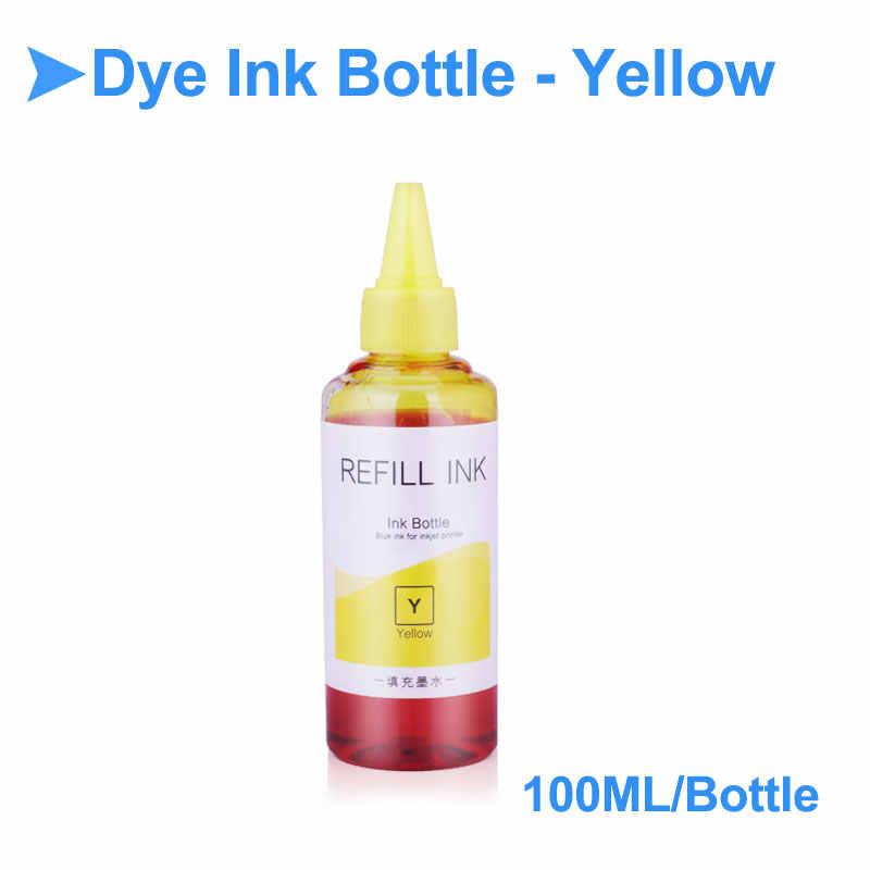 Tinta de recambio para botella de 100ML para impresora Epson Canon HP, tinta para HP de reemplazo Universal de tinta de tanque CISS para Canon y Epson