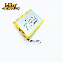 Bateria do polímero da capacidade 4285104 mah da bateria do cabo 5000 da bateria 3 da tabuleta