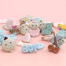 20Pieces Cute Cute Baby Decoration Flat Back Resin Cabochon DIY Scrapbooking Resin Ornament For DIY Home Hair Decoration 50pcs lots cute fly horse flat back resin diy craft supplies for bow center decoration unicorn button earring jewelry ornament