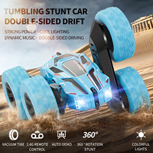 Car Stunt-Toy Vehicle Remote-Control Rc Tumbling Double-Sided-360 Children Bucket Climb
