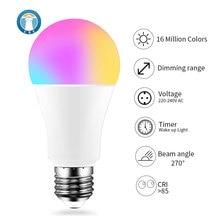 E27 WiFi חכם LED הנורה 9W Dimmable מגניב & חם RGB אור מנורת נורות לבית חכם אוטומציה EWeLink APP בקרה