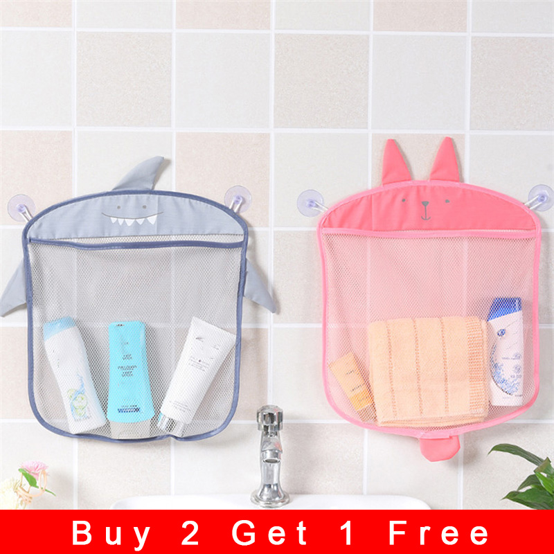 Storage Bags Organizer Cartoon Bath Mesh Toys Hanging Or Suck Basket Kids Net Animal Mesh Beach Storage Bag Children Gift G50