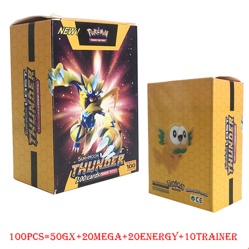 TAKARA TOMY Pokemon 100PCS GX MEGA TRAINER ENERGY Flash Card Sword Shield Sun Moon Card Collectible For Kids Christmas Gifts