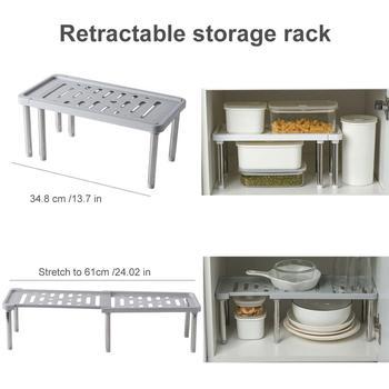 Uchwyt kuchenny do przechowywania zdejmowane naczynia przyprawa warstwowa duża nośność chowany 40DC20 tanie i dobre opinie STAINLESS STEEL rack storage rack shelf refrigerator storage rack
