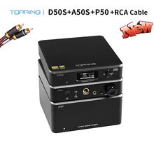 Topping D50S Met Topping A50s Met Topping P50, Hoofdtelefoon Versterker Audio Decoder Lineaire Voeding