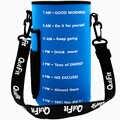 QuiFit neoprenu pokrywa ochronna z regulowany odpinany pasek do 3.8L 2L Tritan butelka wody uchwyt na rękaw sportowych na świeżym powietrzu siłowni