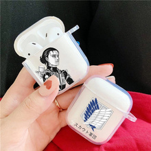 Anime Japanese attack on Titan levi ackerman Case For airpods Cases 1 2 Clear Cover For Airpod Pro Soft TPU Case Earphone Coque