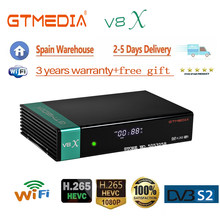 Receptor satélite gtmedia v8x atualizado gtmedia v8 nova construído em wi-fi gtmedia v8 honra DVB-s2 receptor satélite melhores vendas