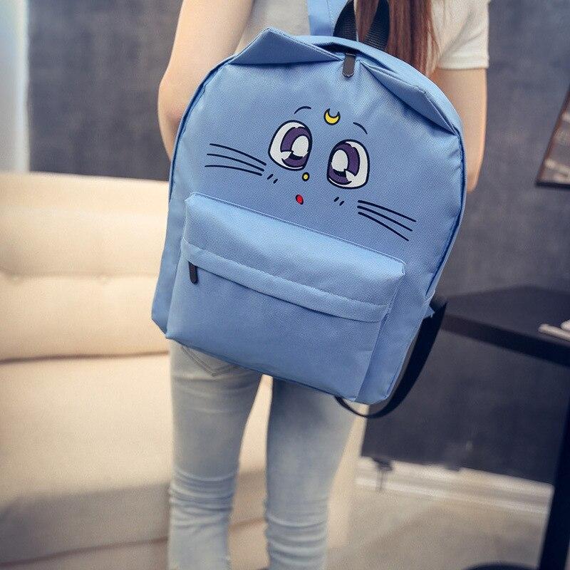 Рюкзак с милым принтом кошачьи плечи уши мультяшная Студенческая сумка милый стильный женский рюкзак сумка для отдыха и путешествий Mochila