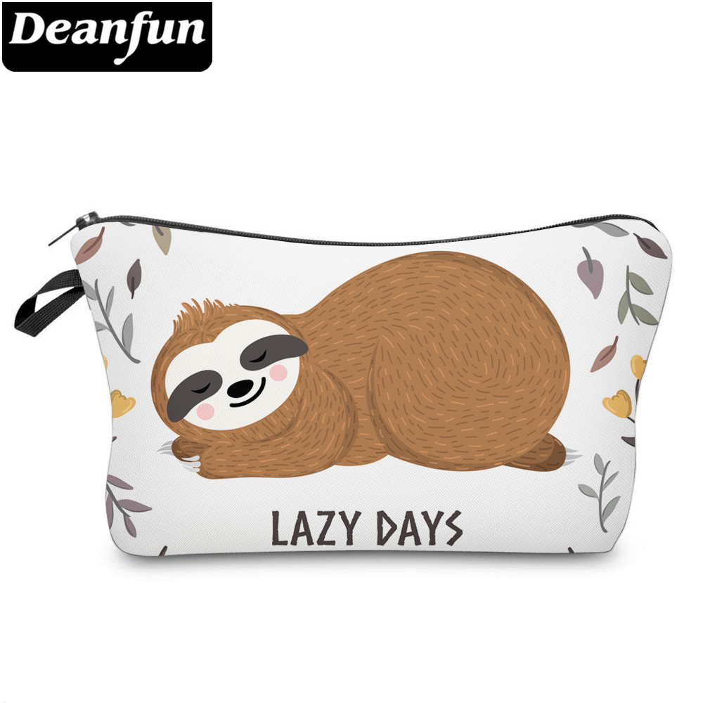 Deanfun Printing Sloth Cosmetic Bag Leaf Lovely Makeup Bag Waterproof Organizer 52007