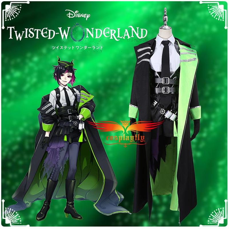 Game Twisted-Wonderland Diasomnia Lilia Vanrouge Cosplay Costume Men Uniform Trench  Asymmetric Apron Dress Shirt  Accessories