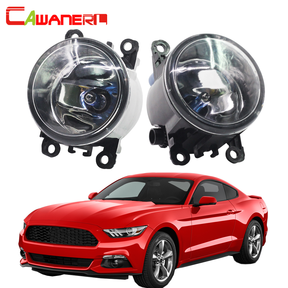 Cawanerl For Ford <font><b>Mustang</b></font> 2005-2013 (Not Fit <font><b>GT</b></font>) H11 100W Car Halogen Fog Light Daytime Running Lamp DRL 12V High Power 2 Pieces image
