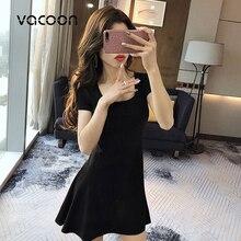 Female Summer Cotton Dress Woman Summer Party Night Casual Loose Elegant Dress Red Black Slim Dress