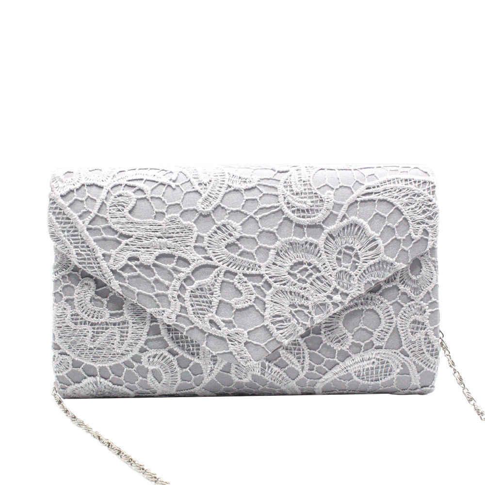 Baru Fashion Wanita Floral Renda Malam Pesta Wanita Clutch Bag Bridal Pernikahan Dompet Tas