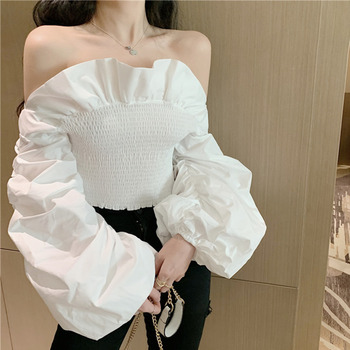 Off Shoulder Ruffle Sleeves Top Online