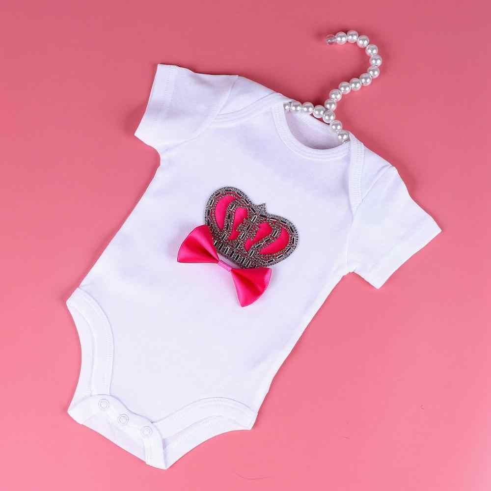 夏新生児男の子女子服クラウンノット白綿のスーツの乳児ベビー半袖ベストのジャンプスーツパジャマ衣装