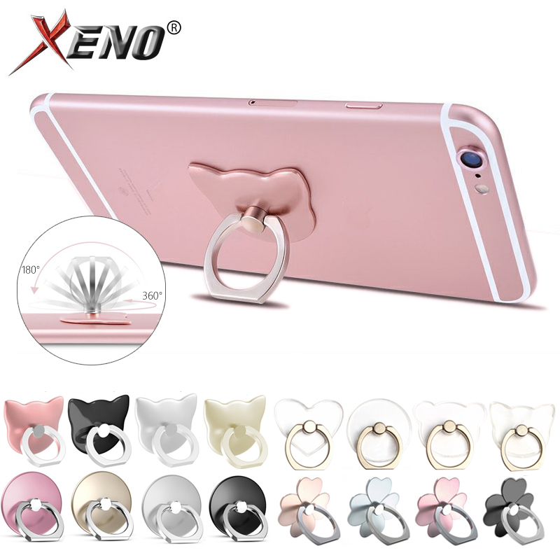 Finger Ring Phone Holder Stand For Mobile Phone Tablet Pc Universal Fashion Flower/Cat Shape Multifunctional Ring Holder