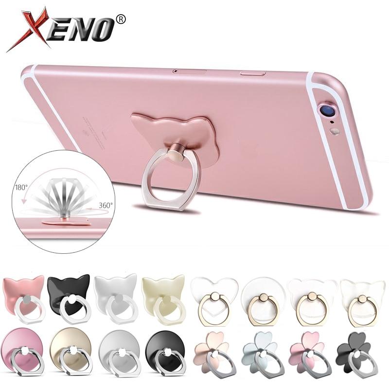 Finger Ring Phone Holder Stand For Mobile Phone Tablet Pc Universal Fashion Flower/Cat Shape Multifunctional Ring Holder